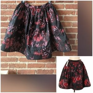 Alice + Olivia PIA Pouf Full Skirt Taffeta Brocade